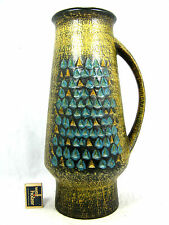 "70´s design  Jasba  "" Relief ""  Keramik Krug Vase  #  pottery jug vase  317 40"