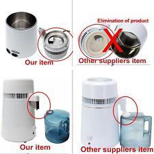 USA 4L Dental Water Distiller Pure Purifier Filter Stainless Steel Filter/Cap