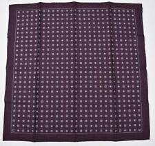 "Brunello Cucinelli Men's Handkerchief Hand rolled Pocket Square 15"" X 15"" New"