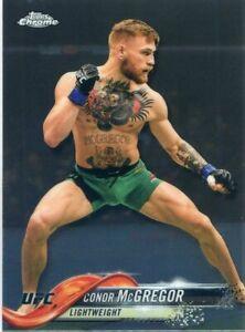 2018 Topps UFC Chrome CONOR MCGREGOR Base MMA Card No 100