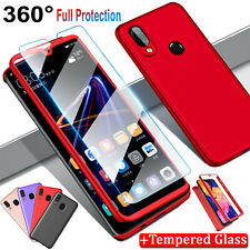 For Samsung Galaxy A10e 360° Case with Tempered Glass Screen Protector Cover