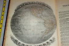 1887 Geography LARGE COLOR MAPS United States America Australia Polynesia Africa