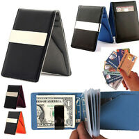 Leather bifold wallet Credit Card holder Money clip Slim thin travel for Men lot