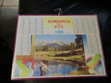 CALENDRIER ALMANACH DES POSTES PTT 1968 LE LAC AU TRUITES