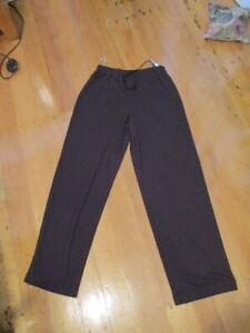 country road stretch elastic waist  loose pants chocolate brown  vintage NWOT