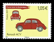 FR3480 - 2019 Principato d'Andorra Renault 4CV automobili