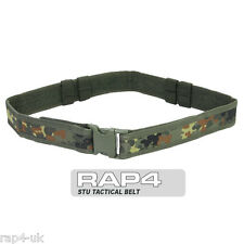 Stu Tattico Militare Nylon Cordura Web Belt (Tedesco Flecktarn) [Z3]