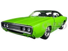 1970 DODGE CHARGER R/T GREEN 1/24 DIECAST MODEL CAR BY JADA 97595