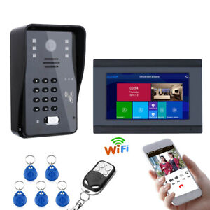 """7""""Wired/Wireless Wifi Password Intercom Entry System,Support Cellphone APP Users"""