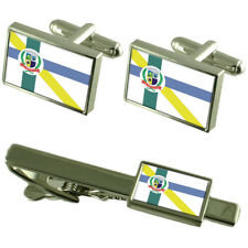 Embu-Guacu City Sao Paulo State Flag Cufflinks Tie Clip Box Gift Set