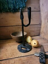 More details for a unusual good early wrought iron rushlight rushnip primitive rare welsh