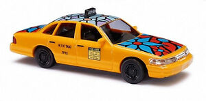 "Busch 49031 Ford Crown Victoria Taxi ""blue flower"" H0 1:87 NEU OVP"