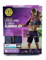Gold's Gym Upper Arm & Thigh 4 Piece Slimmer Neoprene Kit 05-0807GG NIB