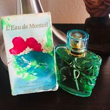 Vintage L'EAU DE MONTEIL 3.4 Oz Eau De Parfum Full As Shown Box Sl Damage RARE!