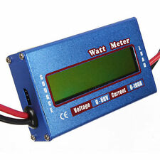 Compact Digital LCD Watt Meter Power Volt Amp Meter RC Battery Analyzer 60V 100A