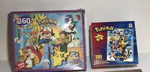 Vintage Pokémon 100 piece puzzle MB 1995 Collectors Milton Bradley Gotta Catchem