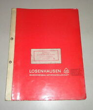 Betriebsanleitung / Teilekatalog Losenhausen Vibromax Rüttler AV 1250
