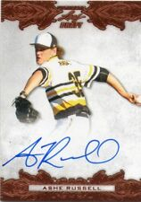 ASHE RUSSELL 2015 LEAF ULTIMATE BRONZE FOIL ON-CARD AUTOGRAPHED BASEBALL RC