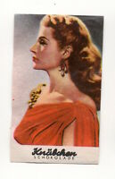 Rita Hayworth 1953 Knäbchen Beliebte Filmstars Film Star Chocolate Card #105