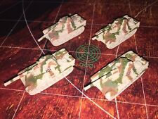 Micro Machines Military Lot X4 Axis Panzer Mark VI Panther Tank RARE WWII