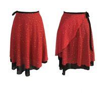 Women Ballroom Latin Dance Skirt Skate Wrap Salsa Tango Chiffon Dancewear Modern