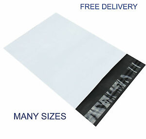 White Mailing Bags Strong Premium Plastic Postal Poly Postage Self Seal Flap
