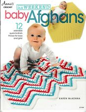 In a Weekend: Baby Afghans 12 Throws | Annie's 871608 Crochet NEW!