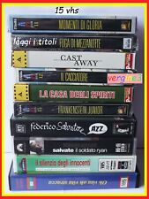 vhs lotto di 15 videocassette per lettore videoregistratore in stock da video ""