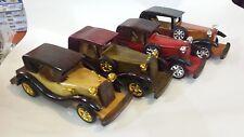 auto d' epoca modellino bellissimo in legno cm 25
