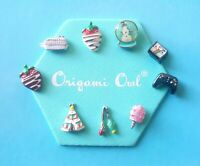 Origami Owl Rare HTF Charms White Chocolate Strawberry Instant Camera Teepee
