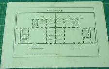 PLAN HOTELS PARTICULIERS original XVIII s. n 49