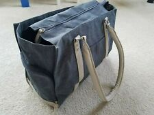 *New* Breast Pump Large Odessa Tote Bag Pockets Comfy Handles Gray Fully Lined