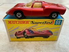 Boxed vintage diecast Matchbox Lesney Superfast No. 68 – Porsche 910