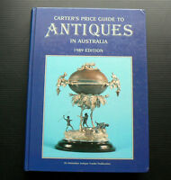 1989 CARTER'S Price Guide to Antiques in Australia vintage furniture glass toys