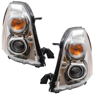 HID Headlights Set fits 2006-2011 Cadillac DTS Pair Headlamps w/ Ballast & Bulbs