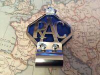 Rac-Car-Badge-bar-Badge-Chrome-Plate-Blue-Backing Aa 1.9cm Abzeichen Leiste