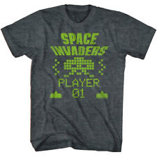 Space Invaders Alien Player One Men's T Shirt Taito Atari Pixel Vintage Arcade