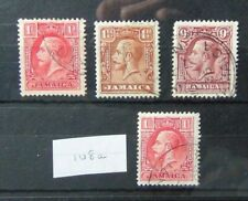 More details for jamaica 1929 - 1932 set with both die i and die ii sg108 - sg110 used