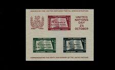 United Nations #38 Souvenir Sheet - 1st Printing - Very Fine MNH