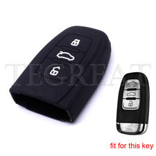 3 Button Silicone Key Cover Keyless Case Fob for Audi A3 A4 A6 A8 TT Q5