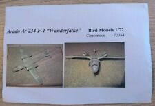 "Bird Models - Arado Ar 234 F-1 ""Wanderfalke"" 1:72 Resinbausatz / resin kit"