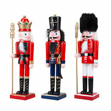 Christmas Decoration Nutcracker Style Figurines - 16cm set of 3 Figures