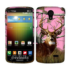 Pink Camo Deer RT Case for  LG Lucid 3 VS876 Cover Phone Safty