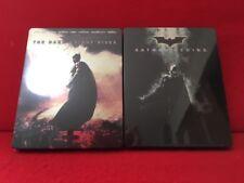 Used Batman Begins & The Dark Knight Rises Set Limited 2 Blu-ray Steelbook F/S
