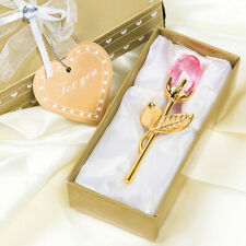 Valentine's Day special  Crystal Rose With Metal Rod Flower Branch  Pendant
