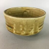 Japanese Ceramic Tea Ceremony Bowl Chawan Ki Seto Vtg Pottery GTB610