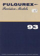 catalogo FULGUREX 1993 Precision Models Spur HO O I Aster Live Steam  D F E  aa
