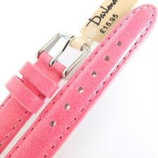 12 mm Darlena 1351 Rosa satinado acabado acolchado de piel de becerro reloj correa hebilla SIL