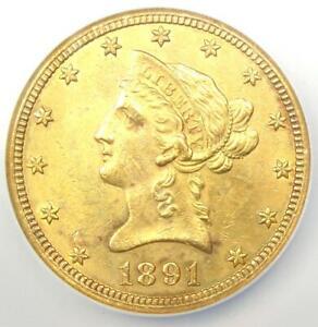1891-CC Liberty Gold Eagle $10 - NGC AU Detail (NCS) - Rare Carson City Coin!