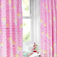 Fairy Tale Dreams Pink Hearts 66x72 Pencil Pleat Fully Lined Curtains